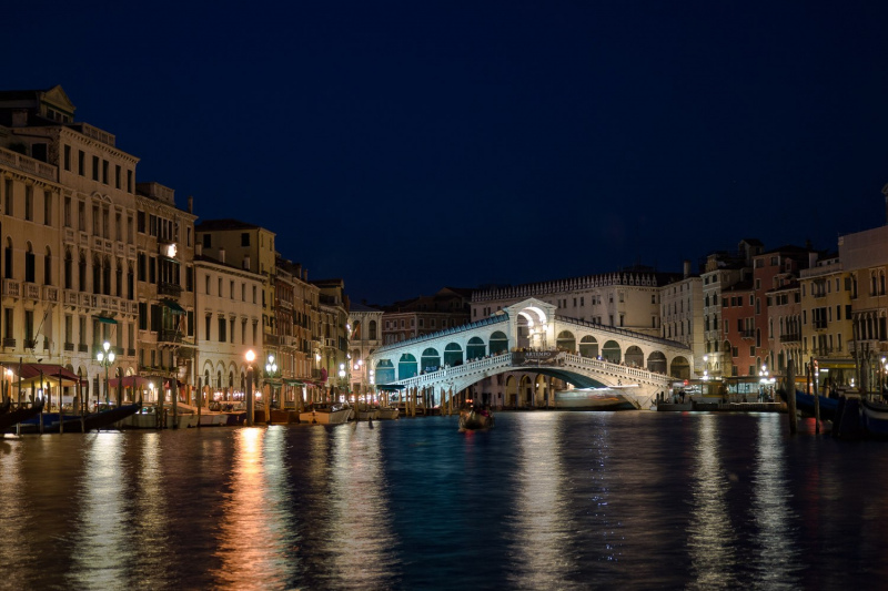 Rialto at night