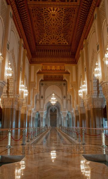 Inside King Hassan II Mosque