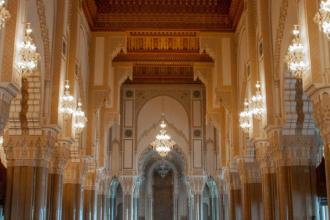 Inside King Hassan II Mosque