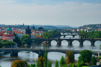 A view down the River Vltava