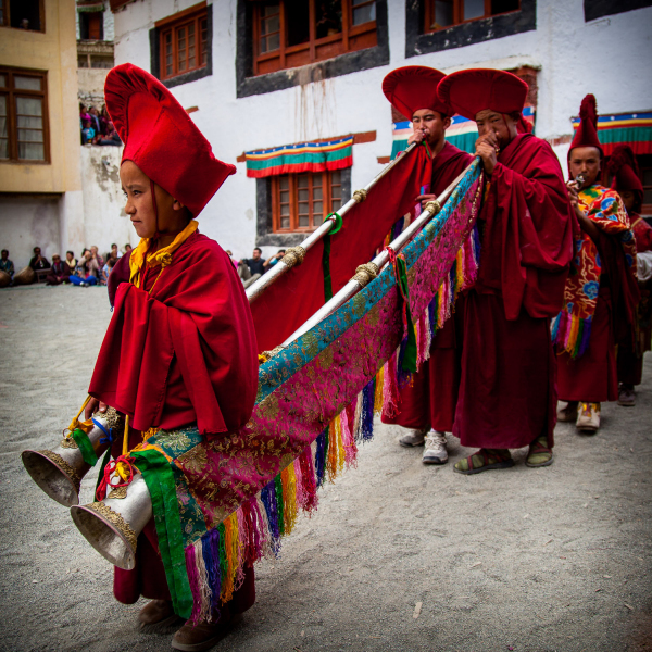 Procession of the Tibetan Buddhist Horns