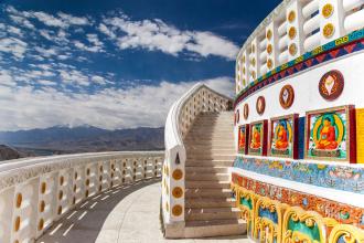 Detail on Shanti Stupa