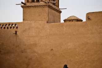 Wind Tower & Woman