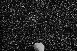 Black Sand White Pebble
