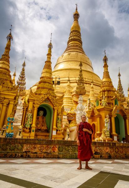 Monk and Pagoda