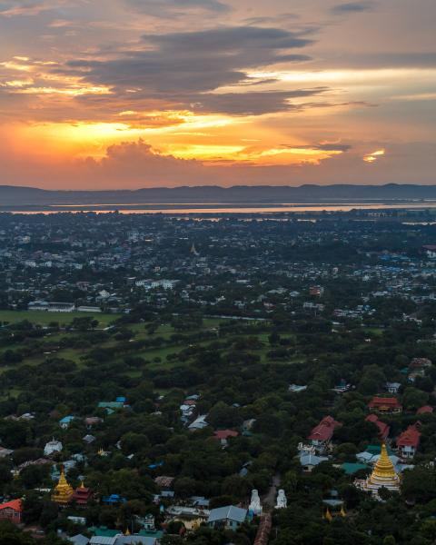 Sunset Over Mandalay