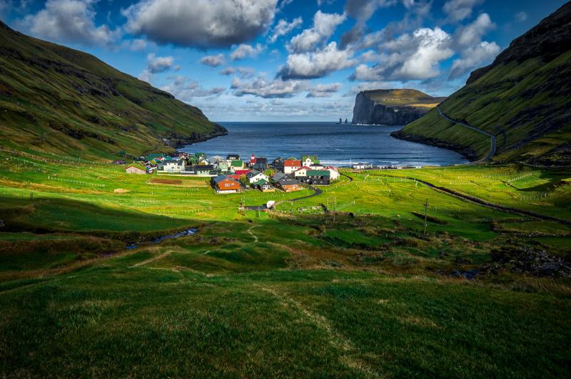 Tjørnuvík Village
