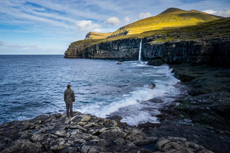 Waterfall near Eiði